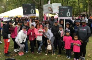 """Oticon employees make every step count at the American Cancer Society """"Making Strides Against Breast Cancer"""" walk, participating as a team in one of the region's largest breast cancer walks, held in Central New Jersey on October 21."""