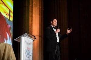 Justin Osmond speaks at the 2018 AG Bell Global Gala.