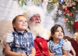 Santa Dave & two children