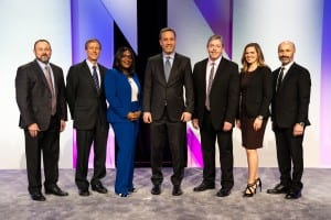 (L-R) Michael Irby, National Sales Director, Oticon, Inc; Dr Neal Barnard, President of the Physicians Committee for Responsible Medicine; Sheena Oliver, AuD, Vice President of Marketing, Oticon, Inc; Gary Rosenblum, President, Oticon, Inc; Candance Depp, AuD, Manager of Sales Excellence and Customer Service Training, Oticon, Inc; Douglas Beck, AuD, Director of Academic Services, Oticon, Inc.