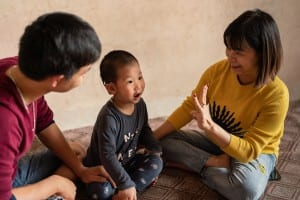 Three-year-old Tung Lam was born with hearing loss so severe, that the hearing aids he had been wearing were not sufficient.