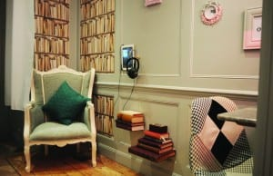 """""""The Library of Hears and Other Stories"""" is located in Cubex Audiology's waiting room."""