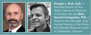 Douglas L. Beck AuD, and Niels Henrik Pontoppidan, PhD bio