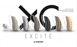 AQ sound XC with rechargeable lithium-ion battery in six color combinations.