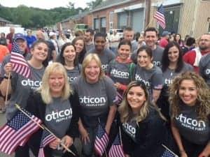 Team Oticon raises funds for NJ Hope for Veterans at Flag Day 5K Run/Walk.