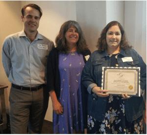 From left to right: Jon Benson (President), Benson Medical Instruments;  Kim Biro and Stephanie Billing, Chesapeake Occupational Health Solutions.