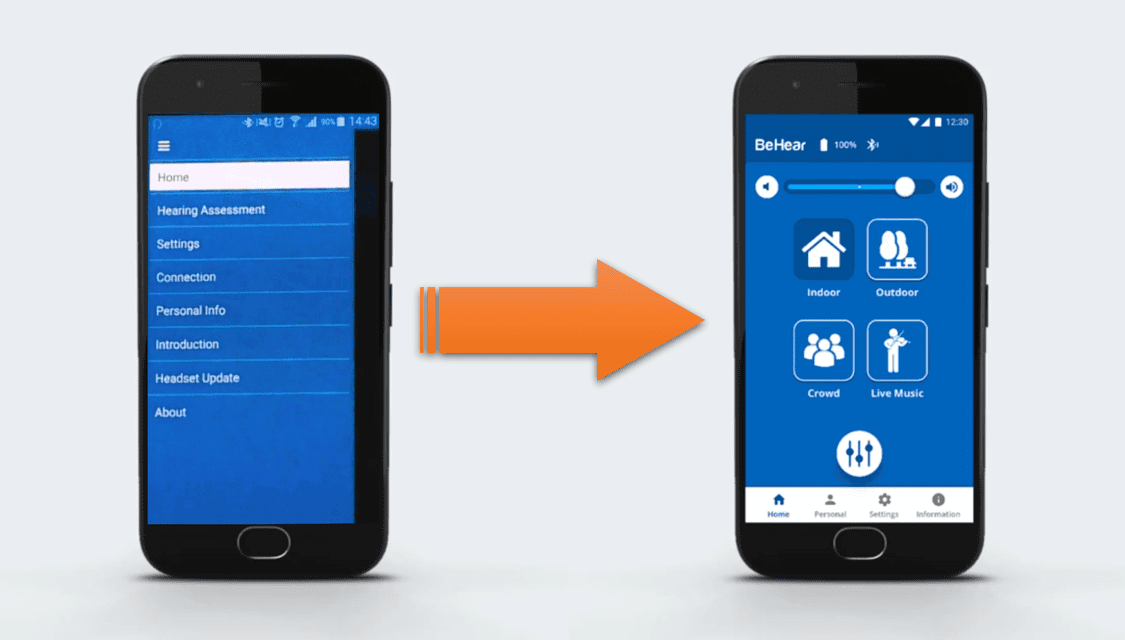 BeHear Introduces New Interface for W&H BeHear App