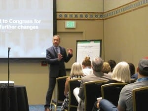 """Oticon President Gary Rosenblum covered current trends in the hearing industry and explained why hearing care providers, their professional organizations, consumer groups, and industry need to forge a forge a consensus statement on Medicare coverage and """"get in front"""" of future changes."""