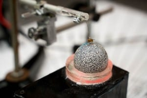The fly Ormia ochracea on the Lee Lab's treadmill system.