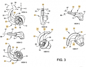 One illustration from the Bose earpiece patents.
