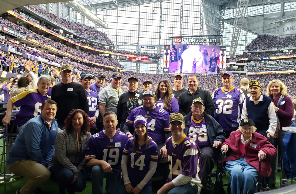 Starkey Hosts Veterans at Minnesota Vikings Game