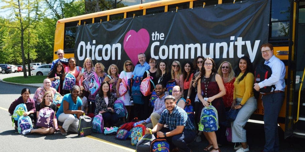 Oticon Participates in United Way 'Stuff the Bus' Program