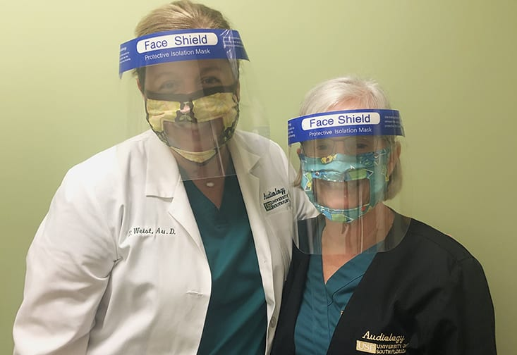 USF Audiologists Use Face View Mask to Better Communicate with Patients