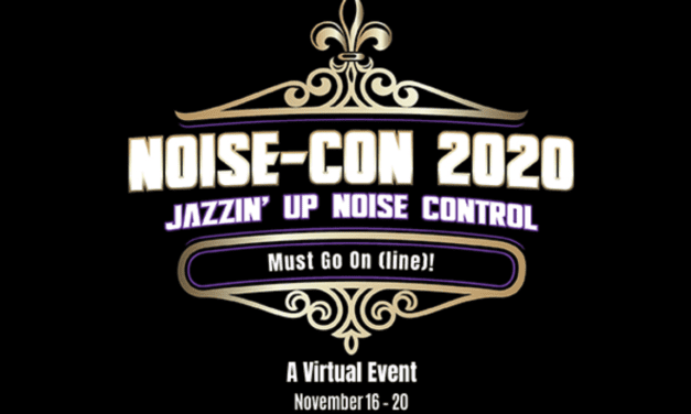 NOISE-CON 2020 Virtual Conference to Take Place November 16-20