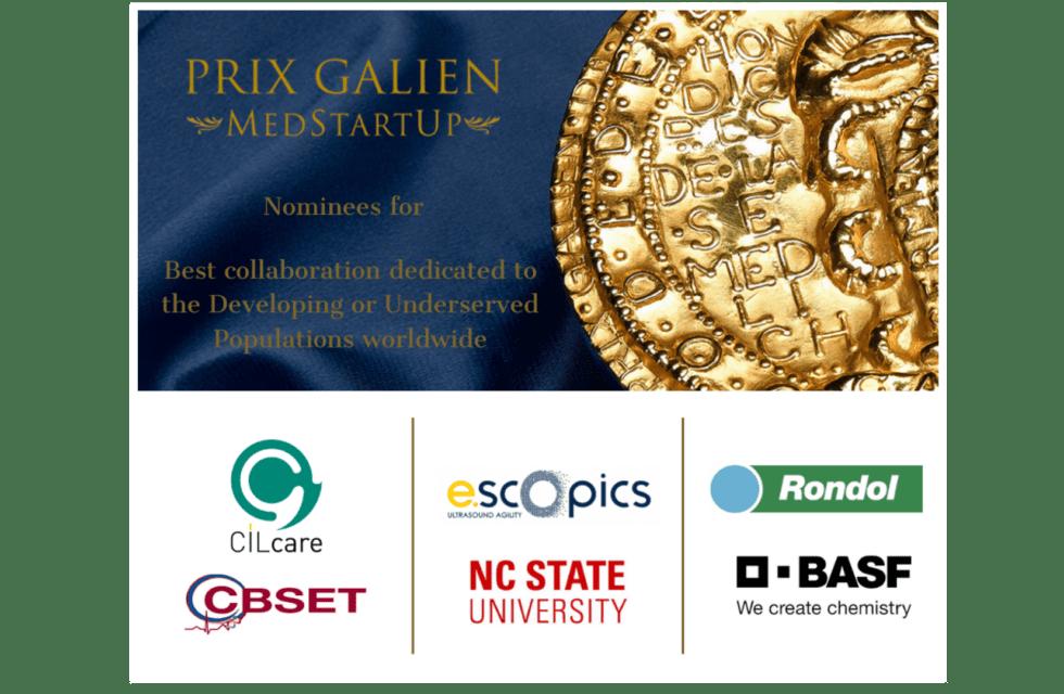 CILcare and CBSET Inc Nominated for Prix Galien MedStartUp Award