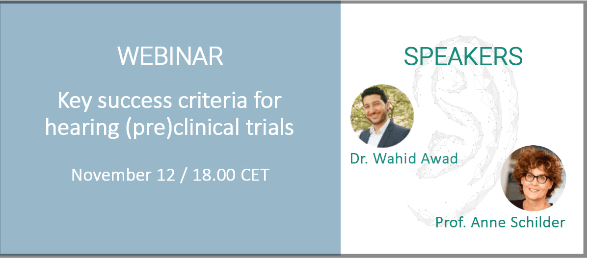 CILcare and ENT Clinical to Present 'Key Success Criteria for Hearing (Pre)Clinical Trials' Webinar on November 12