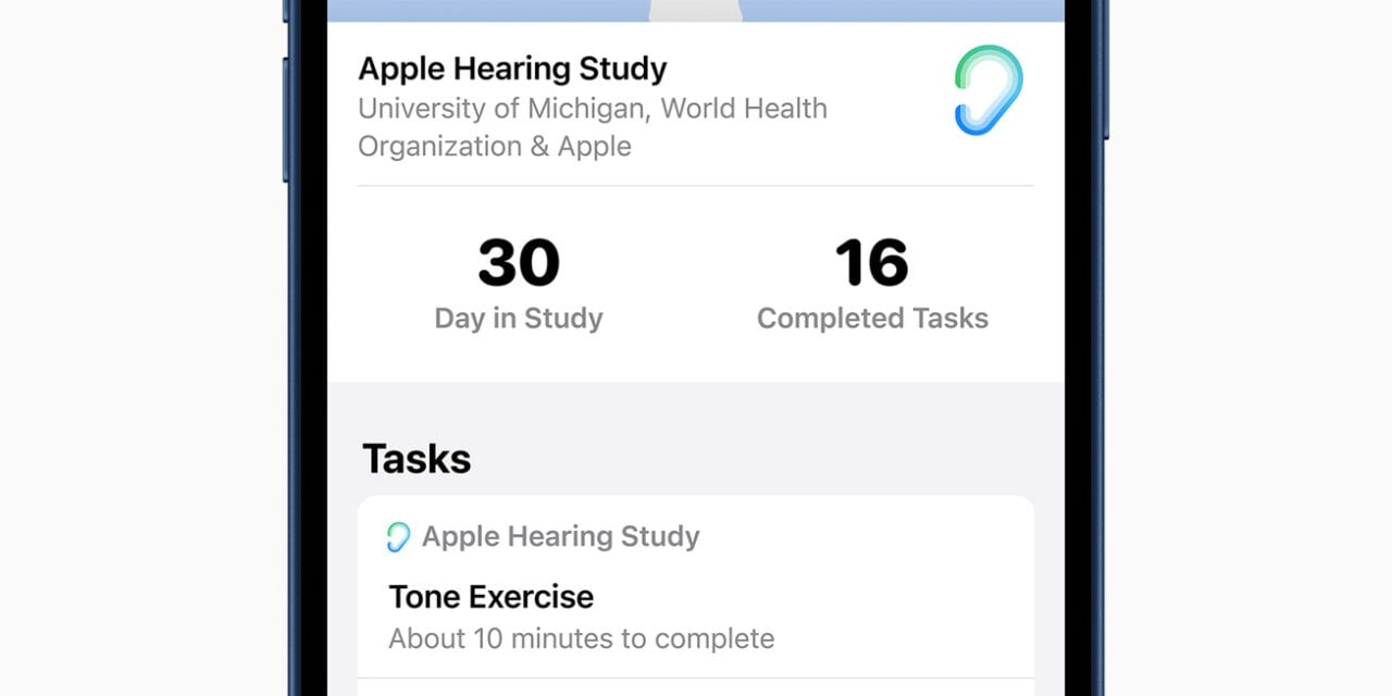 Apple Shares Results of Hearing Study