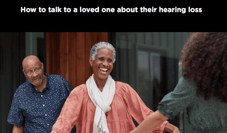 Screenshot from Bose hearing aid website