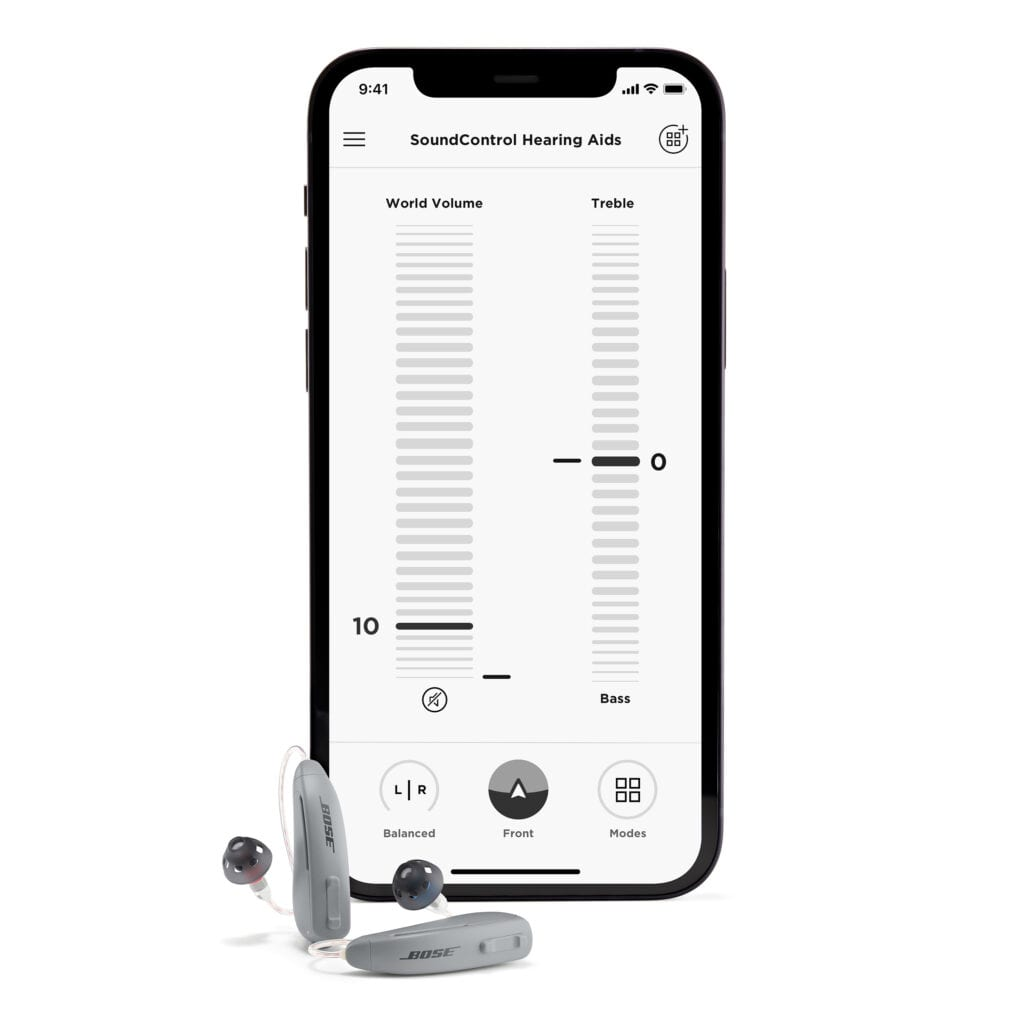Bose SoundControl hearing aid with Bose Hear app