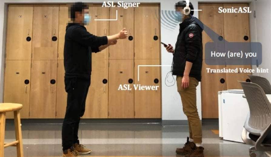 Modified Headphones Translate ASL Via Doppler